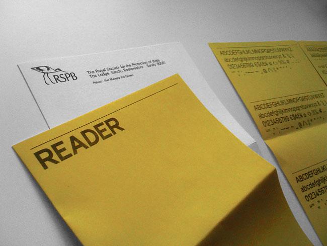 Reader typeface